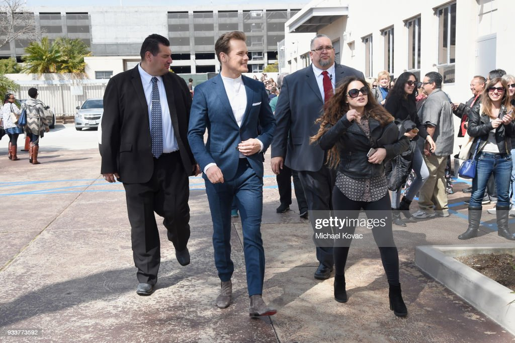 Sam Heughan arrives at the STARZ Outlander FYC Event at Linwood Dunn Theater on March 18, 2018 in Los Angeles, California.