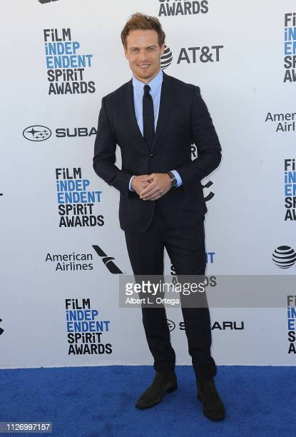 Sam Heughan arrives for the 2019 Film Independent Spirit Awards held on February 23 2019 in Santa Monica California