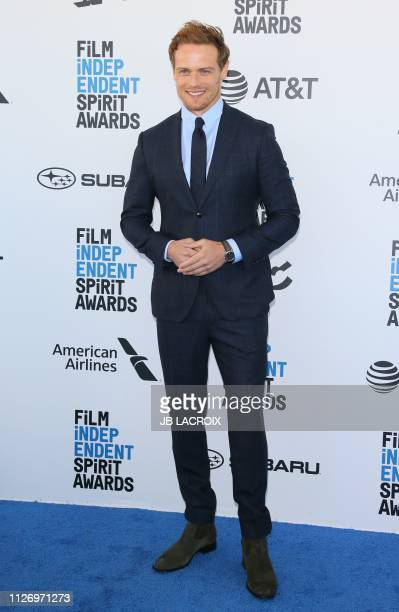 Sam Heughan arrives for the 2019 Film Independent Spirit Awards in Santa Monica California on February 23 2019