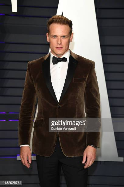 Sam Heughan attends 2019 Vanity Fair Oscar Party Hosted By Radhika Jones at Wallis Annenberg Center for the Performing Arts on February 24 2019 in...