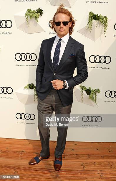 Sam Heughan attends day one of the Audi Polo Challenge at Coworth Park on May 28 2016 in London England