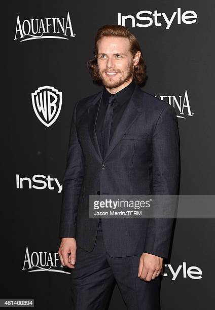 Sam Heughan attends the 2015 InStyle And Warner Bros 72nd Annual Golden Globe Awards PostParty at The Beverly Hilton Hotel on January 11 2015 in...