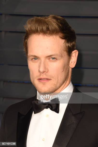 Sam Heughan attends the 2018 Vanity Fair Oscar Party hosted by Radhika Jones at the Wallis Annenberg Center for the Performing Arts on March 4 2018...