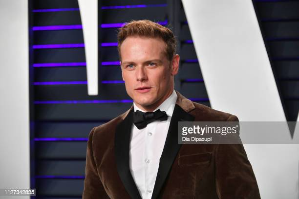 Sam Heughan attends the 2019 Vanity Fair Oscar Party hosted by Radhika Jones at Wallis Annenberg Center for the Performing Arts on February 24 2019...