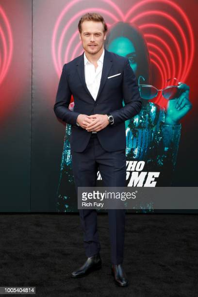 Sam Heughan attends the premiere of Lionsgate's 'The Spy Who Dumped Me' at Fox Village Theater on July 25 2018 in Los Angeles California