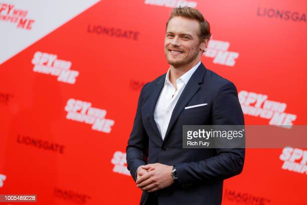 Sam Heughan attends the premiere of Lionsgate's The Spy Who Dumped Me at Fox Village Theater on July 25 2018 in Los Angeles California
