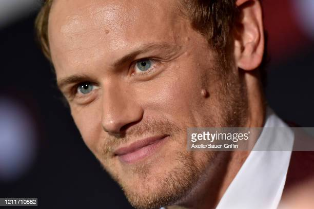 Sam Heughan attends the premiere of Sony Pictures' Bloodshot on March 10 2020 in Los Angeles California
