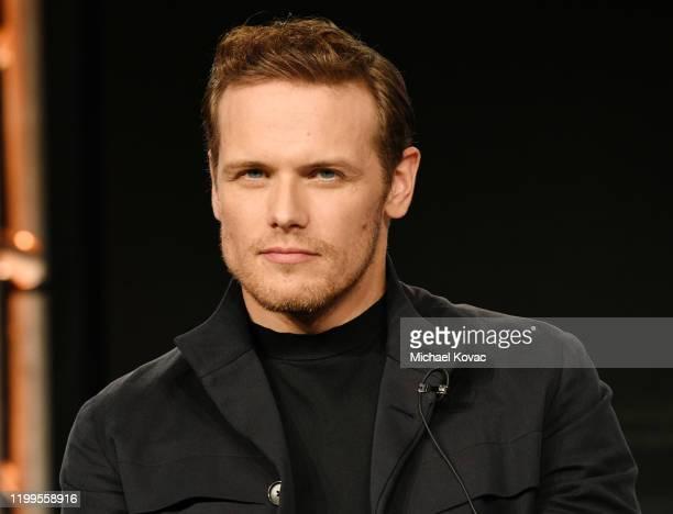 Sam Heughan of 'Outlander' speaks onstage during STARZ TCA Winter 2020 on January 14, 2020 in Pasadena, California.