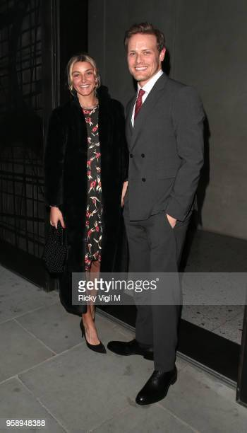 Sam Heughan seen attending Nobu Hotel Shoreditch launch party on May 15 2018 in London England