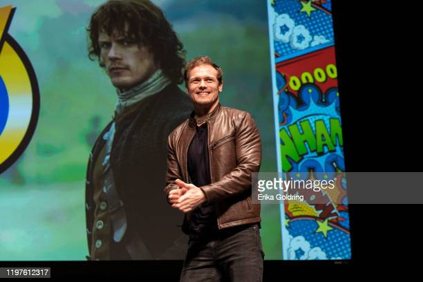 Sam Heughan speaks on stage during Wizard World Comic Con at Ernest N Morial Convention Center on January 04 2020 in New Orleans Louisiana