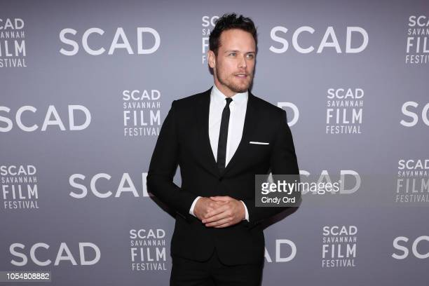 "Sam Heughan the 21st SCAD Savannah Film Festival Red Carpet for ""Outlander"" Season Four on October 28, 2018 in Savannah, Georgia."