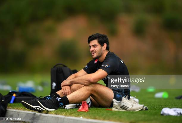 Sam Hidalgo-Clyne of Exeter Chiefs looks on during an Exeter Chiefs Training Session at Sandy Park on July 22, 2020 in Exeter, England.