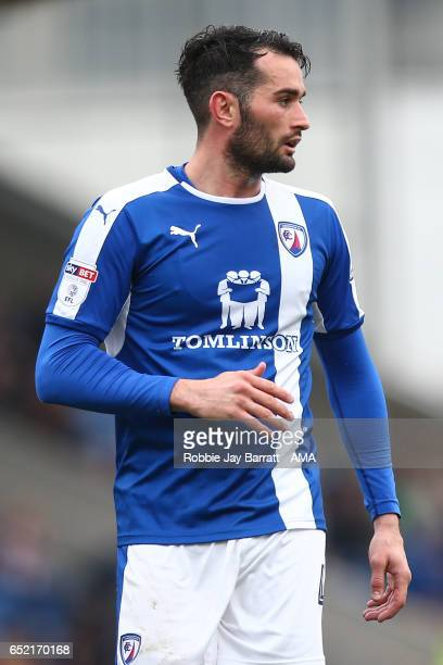 Sam Hird of Chesterfield during the Sky Bet League One match between Chesterfield and Shrewsbury Town at Proact Stadium on March 11 2017 in...