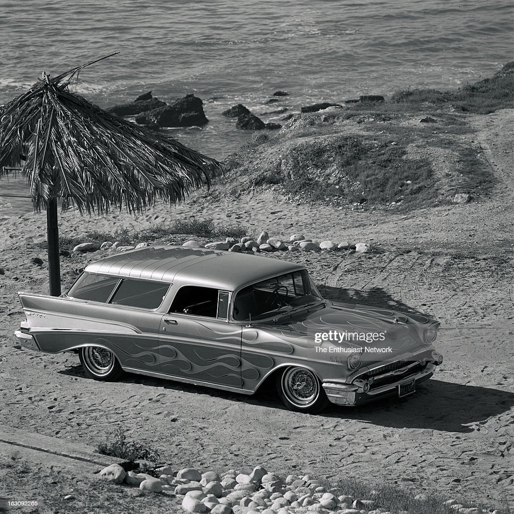 Sam Hollingsworths 1957 Chevrolet Nomad Wagon At The Beach This Chevy Hollingsworth News Photo