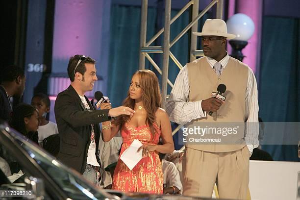 Sam Hornish Jr La La Vasquez and Shaquille O'Neal