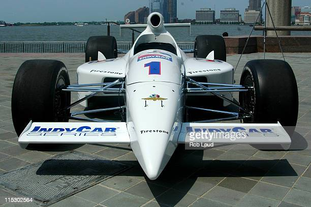 Sam Hornish Jr's Indy Car during Indianapolis 500 Winner Sam Hornish Jr Rings the Closing Bell at the New York Board of Trade at New York Board of...