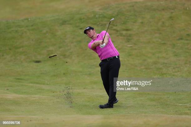 Sam Horsfield of England in action during the The Open Qualifying Series Dubai Duty Free Irish Open at Ballyliffin Golf Club on July 8 2018 in Donegal
