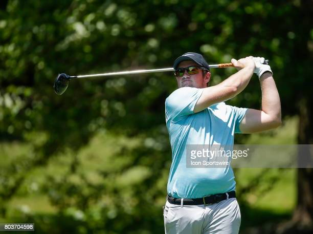 Sam Horsfield tees off on the 7th hole during the first round of the Quicken Loans National on June 29 at TPC Potomac at Avenel Farm in Potomac MD
