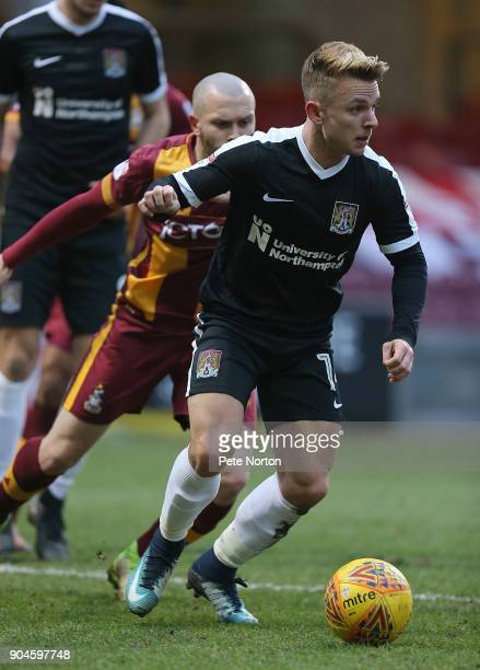 Sam Hoskins of Northampton Town in action during the Sky Bet League One match between Bradford City and Northampton Town at Northern Commercials...