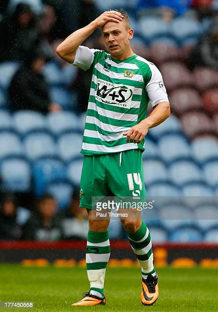 Sam Hoskins of Yeovil watches on during the Sky Bet Championship match between Burnley and Yeovil Town at Turf Moor on August 17 2013 in Burnley...