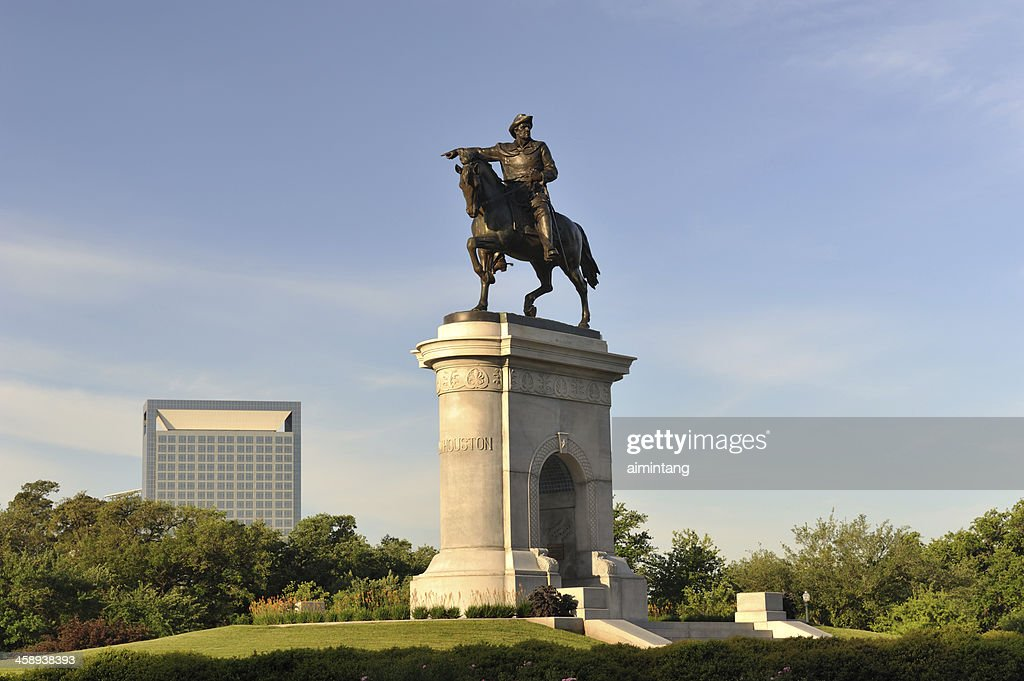 Sam Houston-Statue in Hermann Park : Stock-Foto