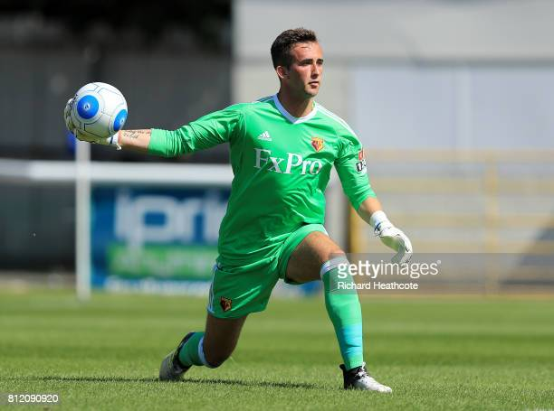 Sam Howe of Watford in action during the preseason friendly match between Woking and Watford U23 at the Laithwaite Community Stadium on July 08 2017...