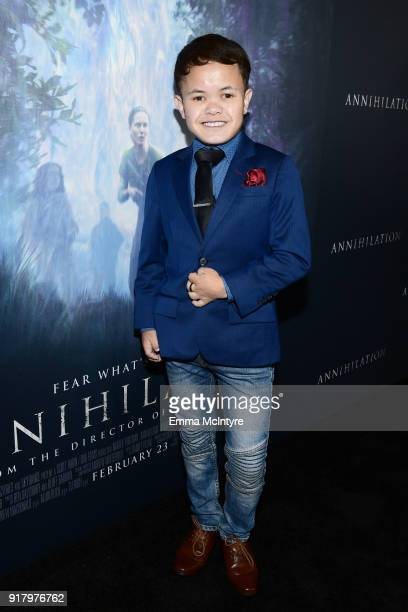 Sam Humphrey attends the premiere of Paramount Pictures' 'Annihilation' at Regency Village Theatre on February 13 2018 in Westwood California