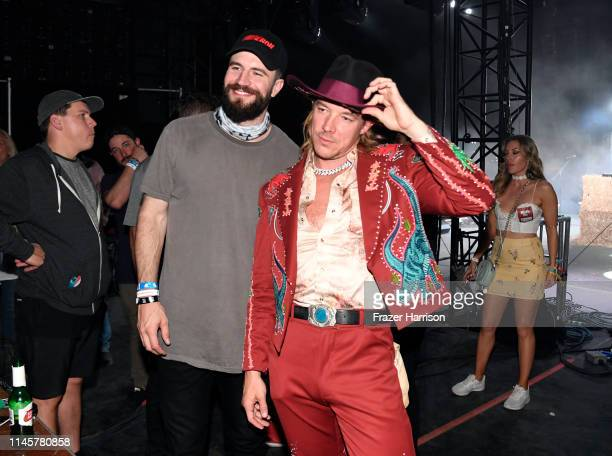 Sam Hunt and Diplo backstage during the 2019 Stagecoach Festival at Empire Polo Field on April 28 2019 in Indio California