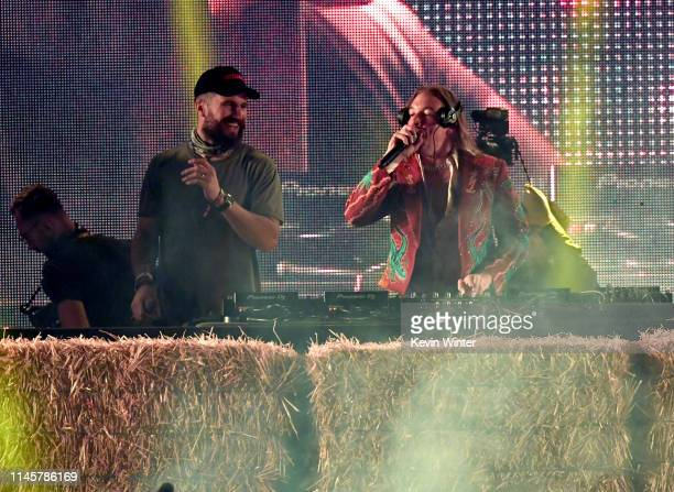 Sam Hunt and Diplo performs onstage during the 2019 Stagecoach Festival at Empire Polo Field on April 28, 2019 in Indio, California.