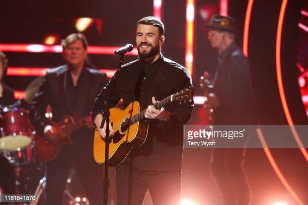 Sam Hunt performs at the 2019 CMT Artist of the Year at Schermerhorn Symphony Center on October 16 2019 in Nashville Tennessee