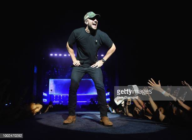 Sam Hunt performs during Country Thunder Day 1 on July 19 2018 in Twin Lakes Wisconsin