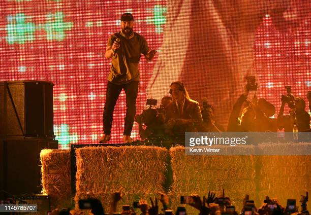 Sam Hunt performs onstage during the 2019 Stagecoach Festival at Empire Polo Field on April 28, 2019 in Indio, California.