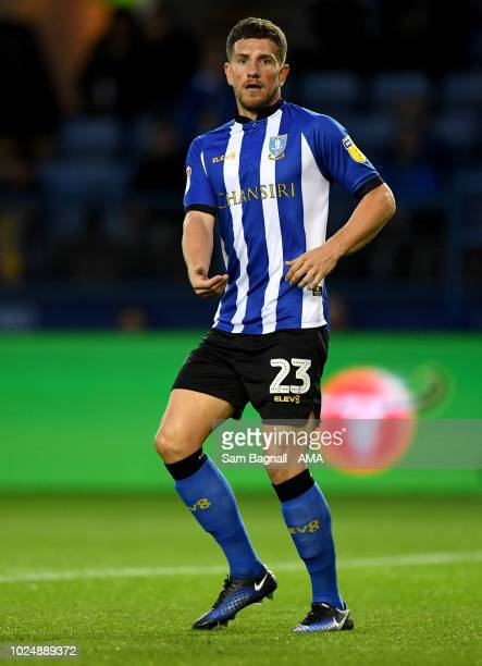 Sam Hutchinson of Sheffield Wednesday during the Carabao Cup Second Round match between Sheffield Wednesday and Wolverhampton Wanderers at...