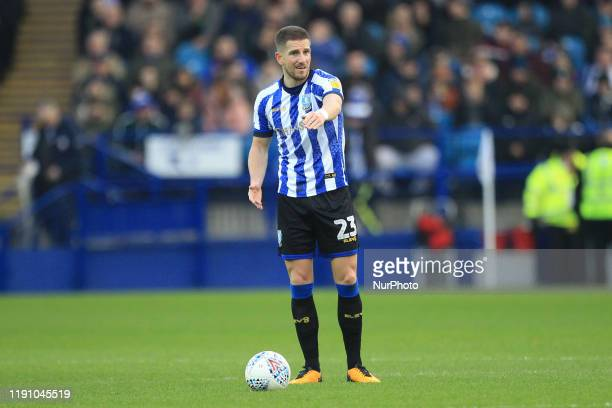 Sam Hutchinson of Sheffield Wednesday during the Sky Bet Championship match between Sheffield Wednesday and Cardiff City at Hillsborough Sheffield on...