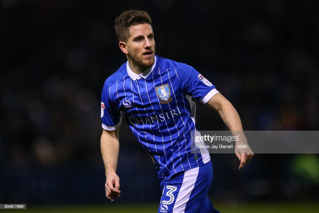 Sam Hutchinson of Sheffield Wednesday during the Sky Bet Championship match between Sheffield Wednesday and Birmingham City at Hillsborough on February 10, 2017 in Sheffield, England.