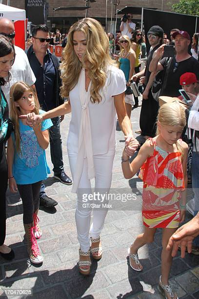 Sam J Sheen Denise Richards and Lola Rose Sheen as seen on June 13 2013 in Los Angeles California