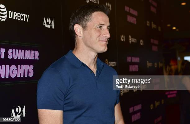 Sam Jaeger arrives at the screening of A24's 'Hot Summer Nights' at Pacific Theatres at The Grove on July 11 2018 in Los Angeles California