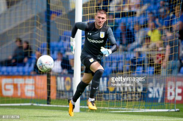 Sam Johnstone of Aston Villa during the PreSeason Friendly match between Shrewsbury Town and Aston Villa at the Greenhous Meadow on July 15 2017 in...
