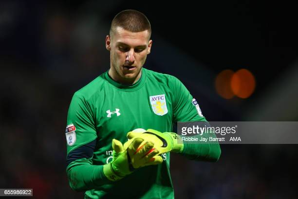 Sam Johnstone of Aston Villa during the Sky Bet Championship match between Huddersfield Town and Aston Villa at John Smith's Stadium on March 7 2017...
