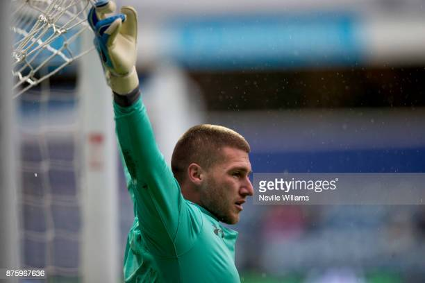 Sam Johnstone of Aston Villa during the Sky Bet Championship match between Queens Park Rangers and Aston Villa at Loftus Road on November 18 2017 in...
