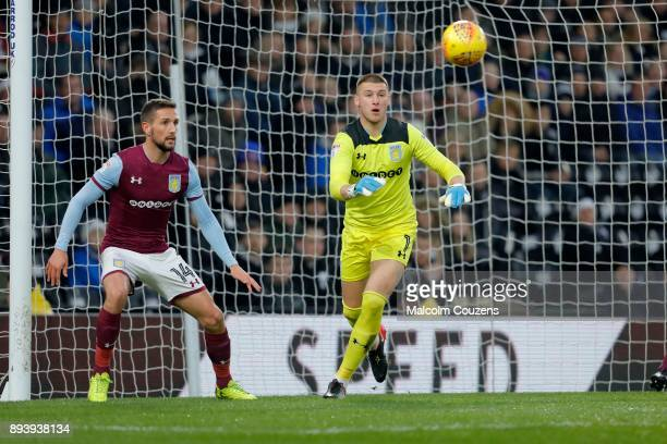 Sam Johnstone of Aston Villa during the Sky Bet Championship match between Derby County and Aston Villa at iPro Stadium on December 16 2017 in Derby...