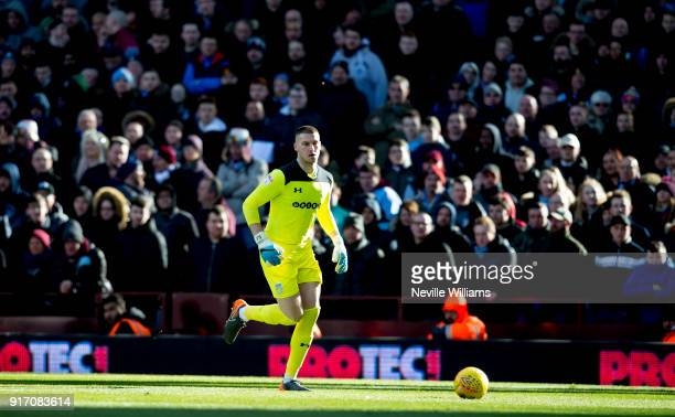 Sam Johnstone of Aston Villa during the Sky Bet Championship match between Aston Villa and Birmingham City at Villa Park on February 11 2018 in...