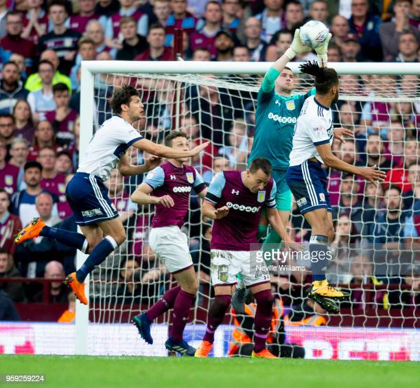 Sam Johnstone of Aston Villa during the Sky Bet Championship Play Off Semi Final Second Leg match between Aston Villa and Middlesbrough at Villa Park...