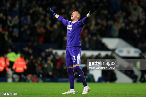 Sam Johnstone of West Bromwich Albion during the Sky Bet Championship match between West Bromwich Albion and Leeds United at The Hawthorns on...