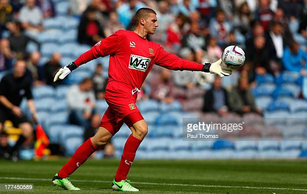 Sam Johnstone of Yeovil in action during the Sky Bet Championship match between Burnley and Yeovil Town at Turf Moor on August 17 2013 in Burnley...