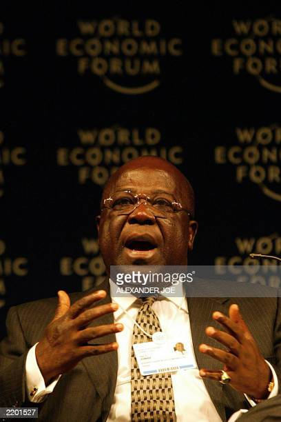 Sam Jonah Group Chief Executive Officer of the Ashannti Goldfields Company of Ghana talks during the opening of the Plenary session of Africa's...