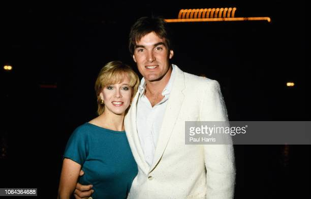 Sam Jones and Lynn Eriks attending the 11th Annual Alan King ProCelebrity Tennis Classic Party' on April 23 1982 at Caesars Palace in Las Vegas...