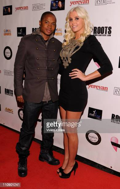 Sam Jones III and Karissa Shannon attend the Hollywood Music Showcase Fundraiser To Benefit American Red Cross Relief In Japan at The Highlands club...