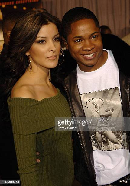 """Sam Jones III and Nadia during Walt Disney Pictures and Jerry Bruckheimer Films' Premiere """"Glory Road"""" at Pantages Theatre in Hollywood, California,..."""