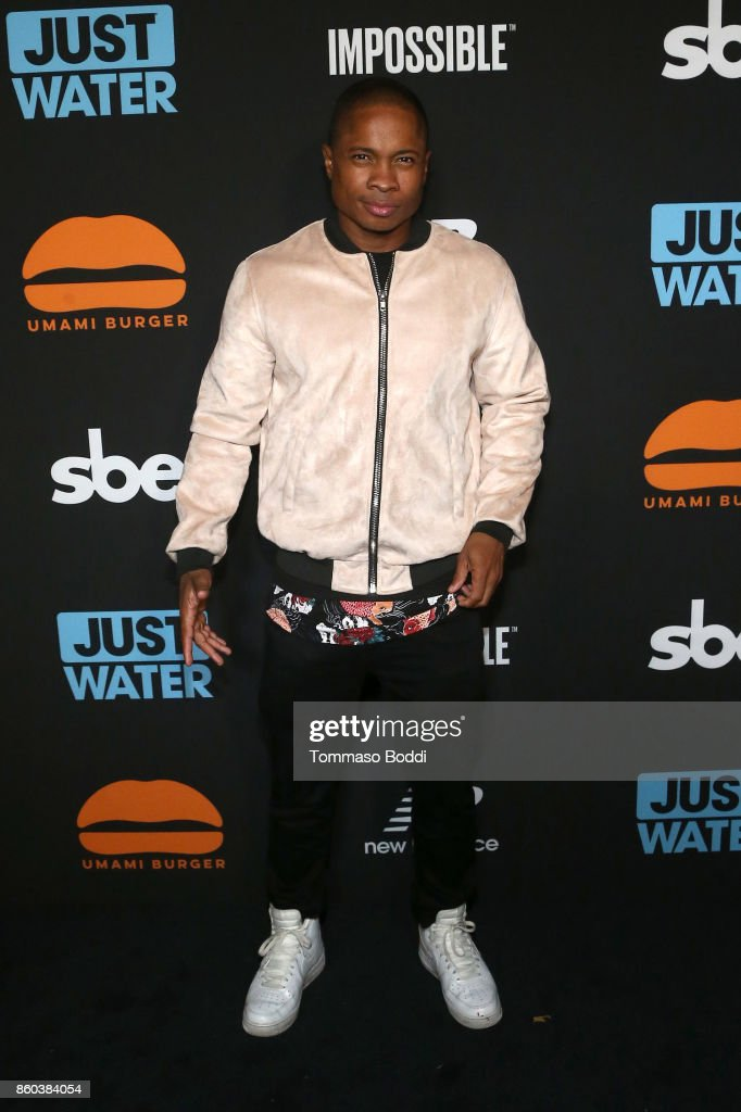 Sam Jones III attends the Umami Burger x Jaden Smith Artist Series Launch Event at The Grove on October 11, 2017 in Los Angeles, California.